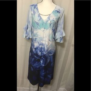 Calvin Klein dress with bell sleeves size L